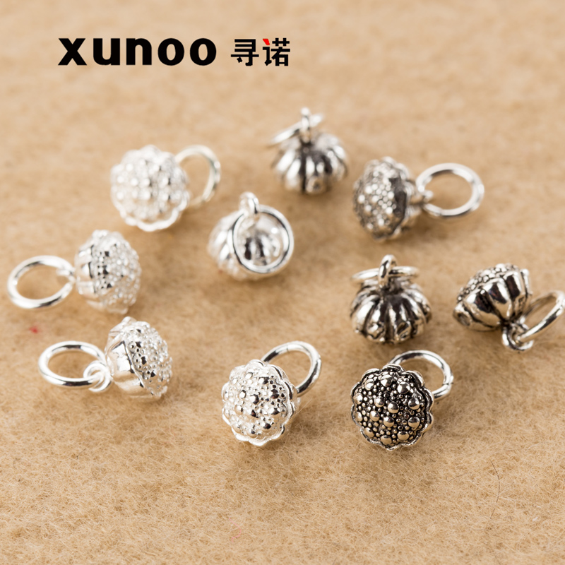 Promise to find a diy jewelry accessories s925 sterling silver pendants thai silver ring with circular shower