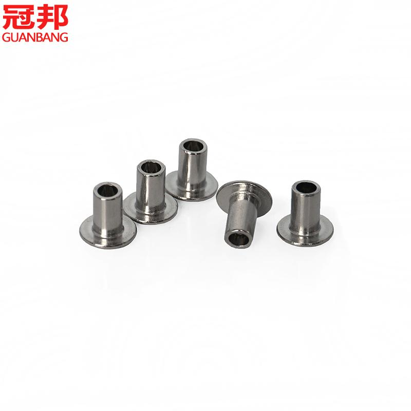 Promotional m4/304 stainless steel oval head rivets empty/gb873 empty heart round rivet/rivet coreless Nail