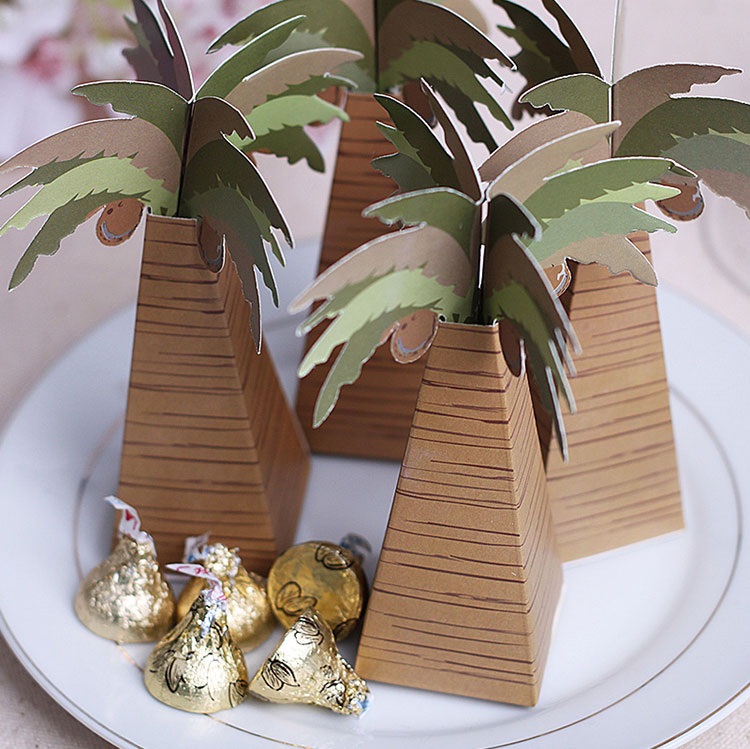 Promotional products minnie coconut tree personalized wedding candy box candy box creative wedding products wedding celebration supplies props