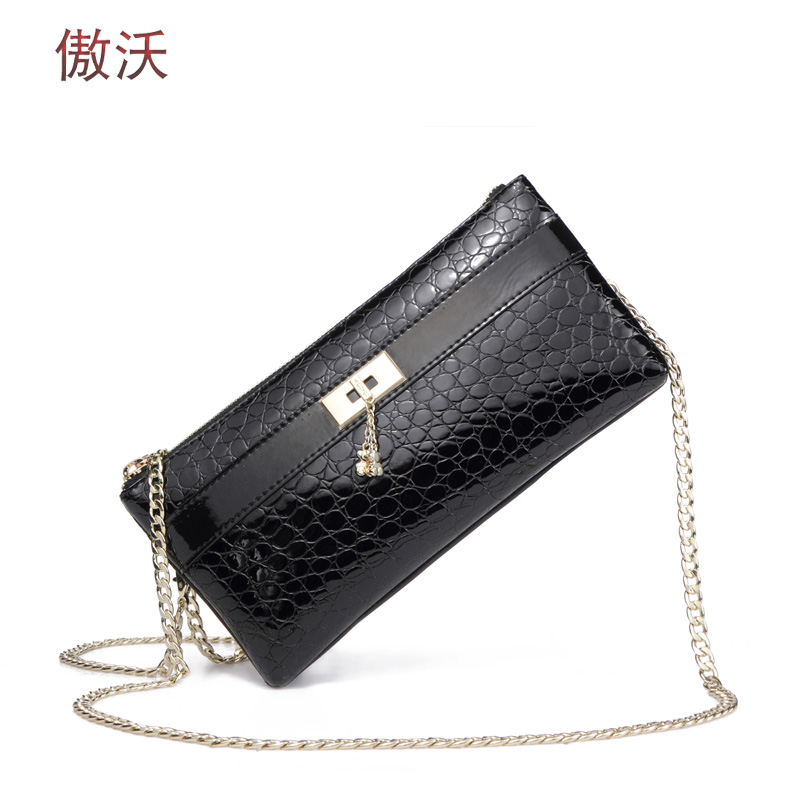 Proud waugh 2016 summer new chain bag small fragrant wind leather shoulder bag diagonal header layer of leather handbags small bag