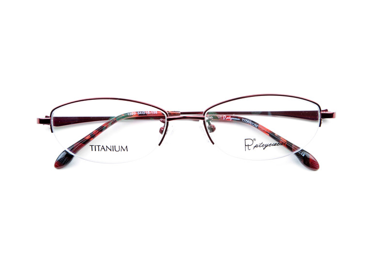 Pt titanium glasses frames myopia female eyewear frame glasses frame glasses ultralight half frame eye glasses myopia female eyes 1320