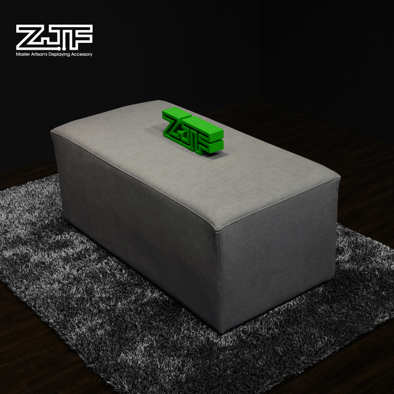 Public carpenter square zjf shoe double gray leather stool stool changing his shoes sofa stool stool stool a pair of shoes stool clothing store manager jane about quanzhou