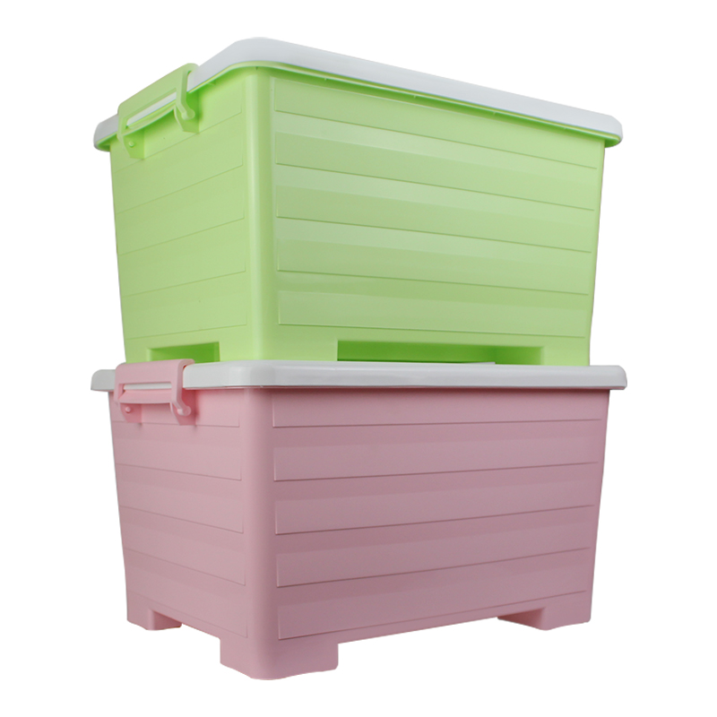 Pulley plastic storage box with lid piece underwear wardrobe sorting box storage box toy zero food storage box