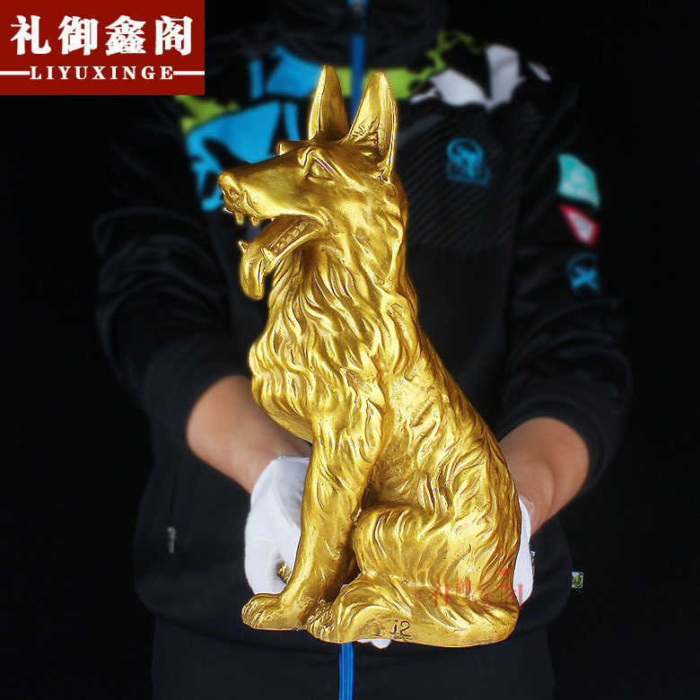 Pure copper opening zodiac dog ornaments large copper dogs miserly lucky feng shui ornaments zodiac dog ornaments dog ornaments