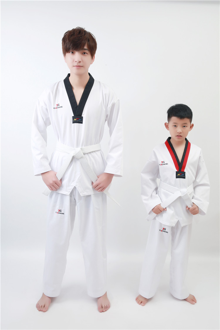 Pure cotton adult children taekwondo suits taekwondo suits taekwondo taekwondo suits long sleeve spring and summer male and female models road clothing