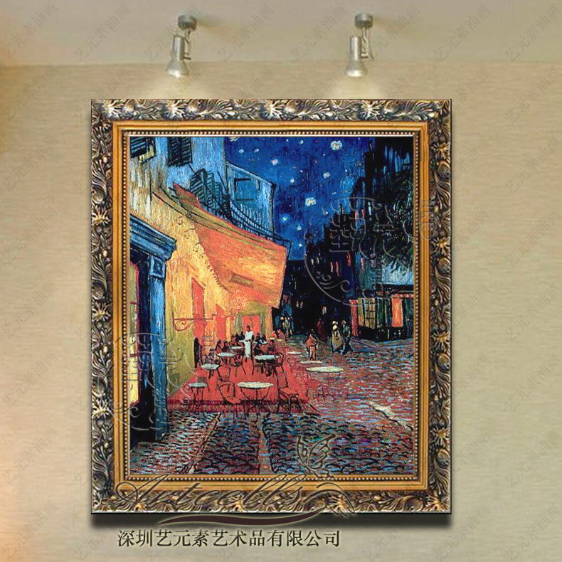 Pure european painting the living room painted van gogh YFG007 all the hotel villa fireplace framed painting restaurant cafe