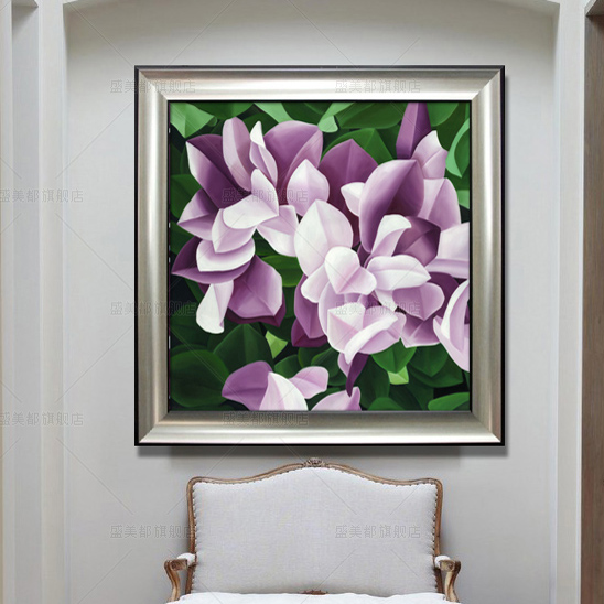 Pure hand painted oil painting modern abstract decorative painting framed painting the living room restaurant bedroom triptych painting plant flowers