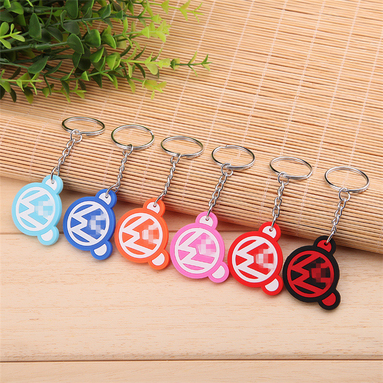Pure silicone car apple keychain keychain key ring buckle ring volkswagen bear candy color 6 color options