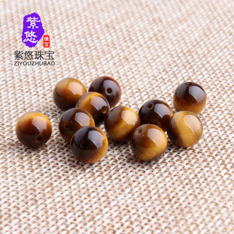 Purple leisurely natural selection of red wood becomes stone tiger eye stone beads scattered yellow tiger eye beads diy jewelry beads peizhu