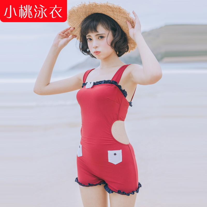 Pursuit swimsuit female swimsuit 2015 korean version of the new 90 fashion piece swimsuit cover the belly was thin slim sexy hot springs bathing suit