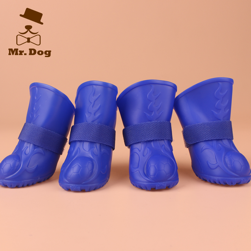 Q dog rain boots waterproof shoes rain boots rain boots pet shoes slip shoes dog shoes waterproof and durable raincoat will take