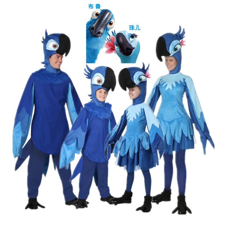 Qi county cos cartoon parrot suit bruce pearl 《 》 rio adventure blue macaw