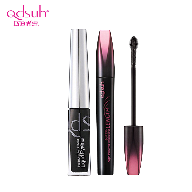 Qiao di shanghui hyun dense mascara waterproof makeup is not blooming eyeliner combination of colorful combination shipping