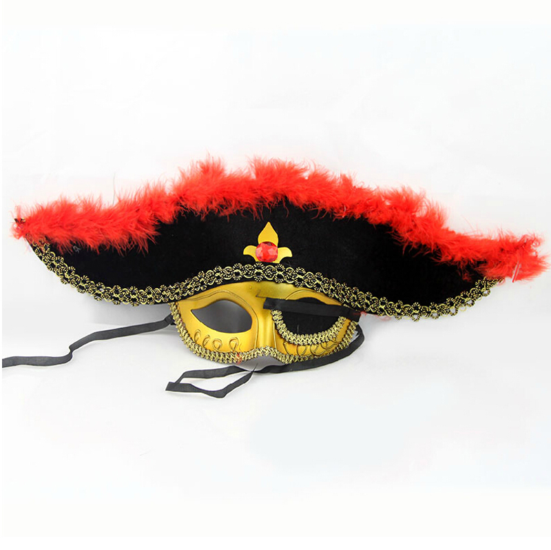 Qiao shi ting halloween supplies/halloween supplies/masquerade props-eyed pirate face a 50g