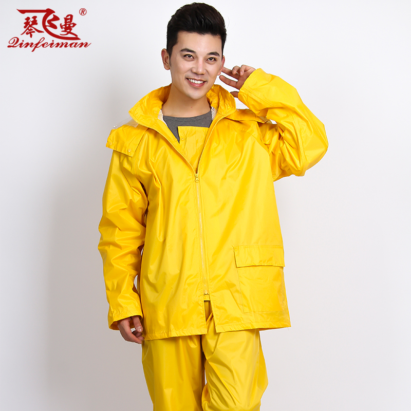 Qin fei man fashion double electric cars motorcycle raincoat raincoat split reflective raincoat rain pants suit