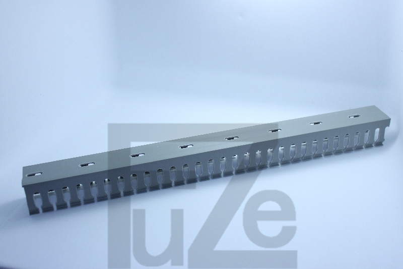 Quality pvc trunking h50 * w30 trunking gray cable trough cable tray with trough