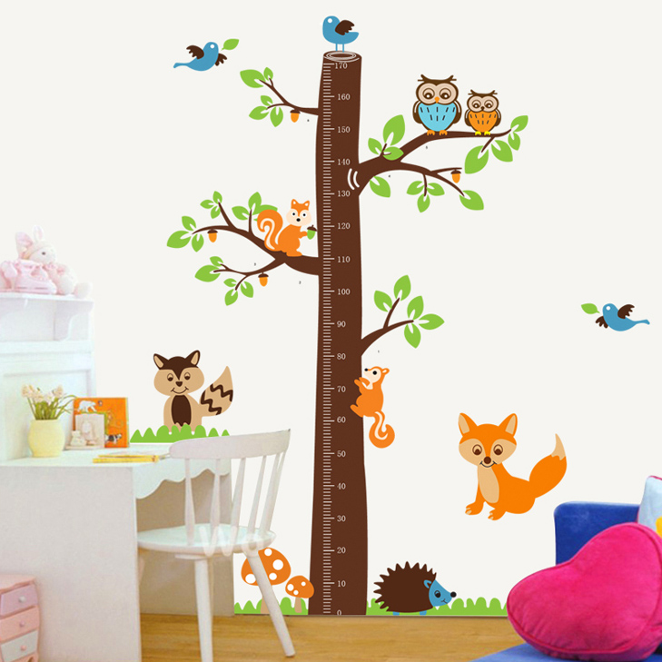 Quantity feet tall removable wall stickers living room bedroom children's room decoration wall sticker height height stickers tree