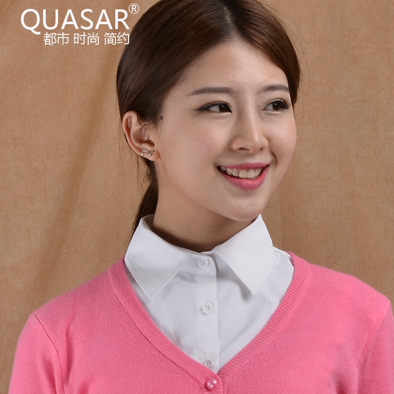 Quasar korean version of the spring and autumn paragraph korean wild fake collar shirt collar fake fake retro handmade decorative false collar
