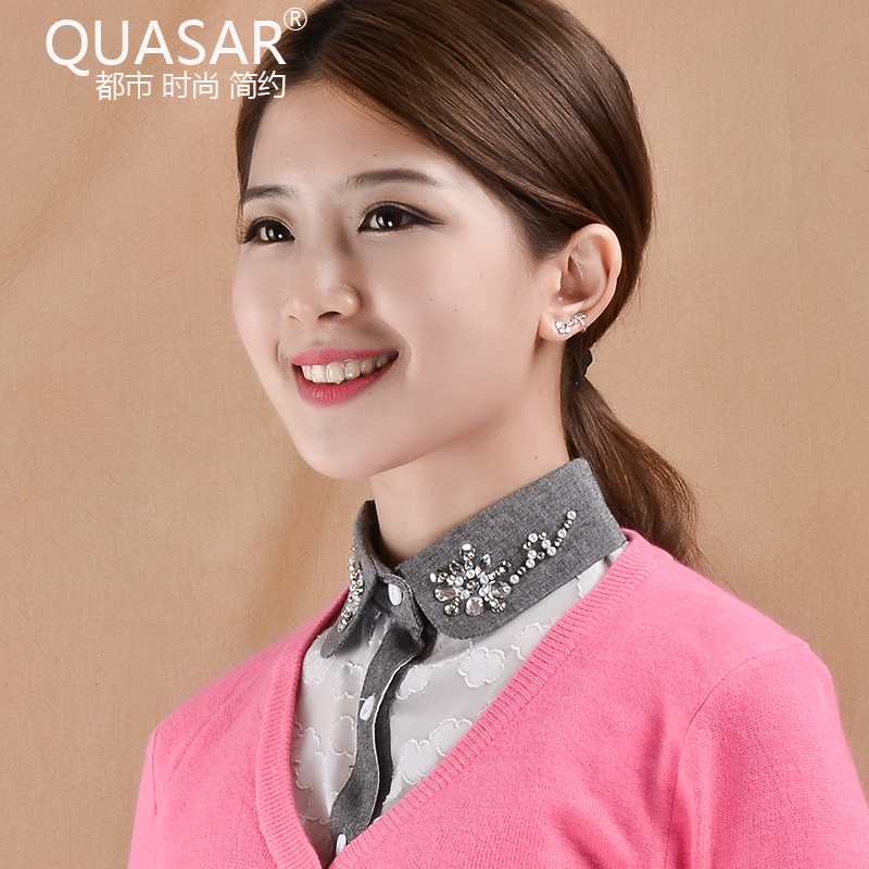 Quasar spring and autumn korean fake collar shirt collar cotton lace collar fake fake fake collar shirt female autumn and winter hundred ride