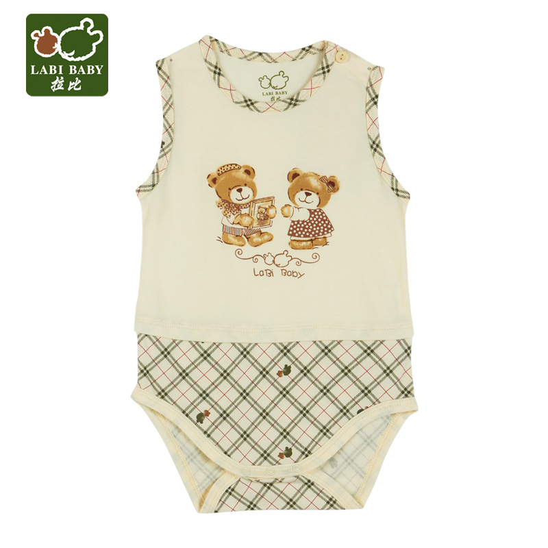 Rabbi kids 2016 summer new baby romper jumpsuit climbing clothes newborn baby vest leotard symphony