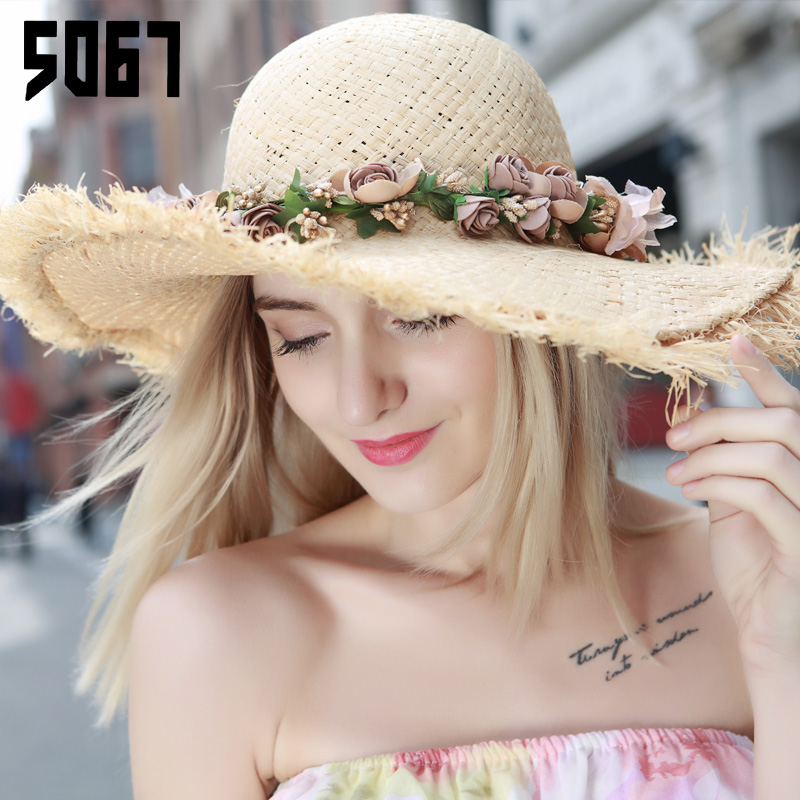 Rafi straw hat female summer korean large brimmed sun hat travel cap sun hat female beach hat summer beach hat with disabilities