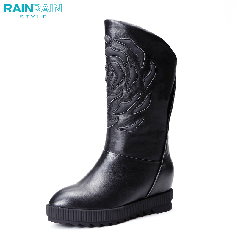 Rain rain RAINRAIN2014 winter fashion women boots to keep warm in the tube plus velvet boots women leather high heels shoes