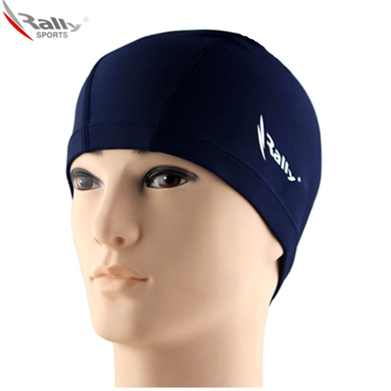 Rally rui yi ear monochrome swimming cap swimming cap senior lycra swim cap swimming cap swimming cap swimming cap swimming cap male and female children cute card through the