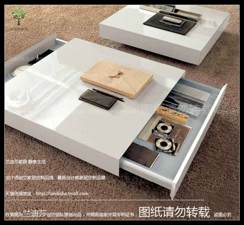 Randy lufthansa paint white paint coffee table coffee table coffee table fashion simple coffee table storage coffee table tea table a few square coffee table tea set