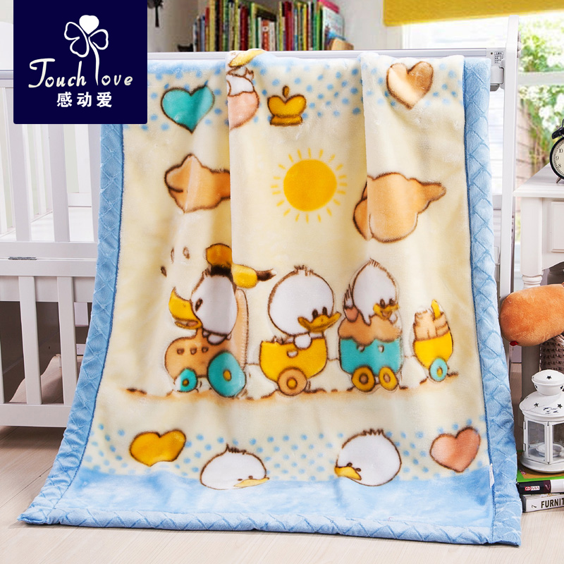 Raschel baby blankets double thick blanket of autumn and winter newborn baby blanket blankets for children kindergarten nap blanket blankets