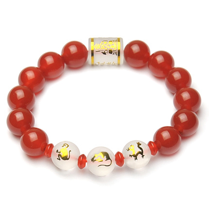 Rat dragon monkey opening 2016 year of the monkey natal mascot red agate bracelet jewelry gift for men and women