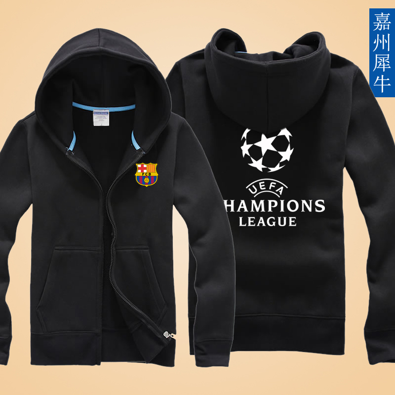 Real madrid c ronaldo messi barcelona champions league football clothes spring and autumn thin coat korean students tide boys sweater
