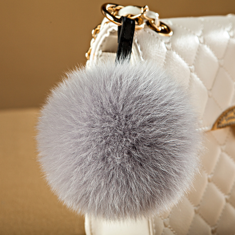 Really cute hairy ball pendant plush fox fur ball bag pendant plush fur ball key chain car ornaments