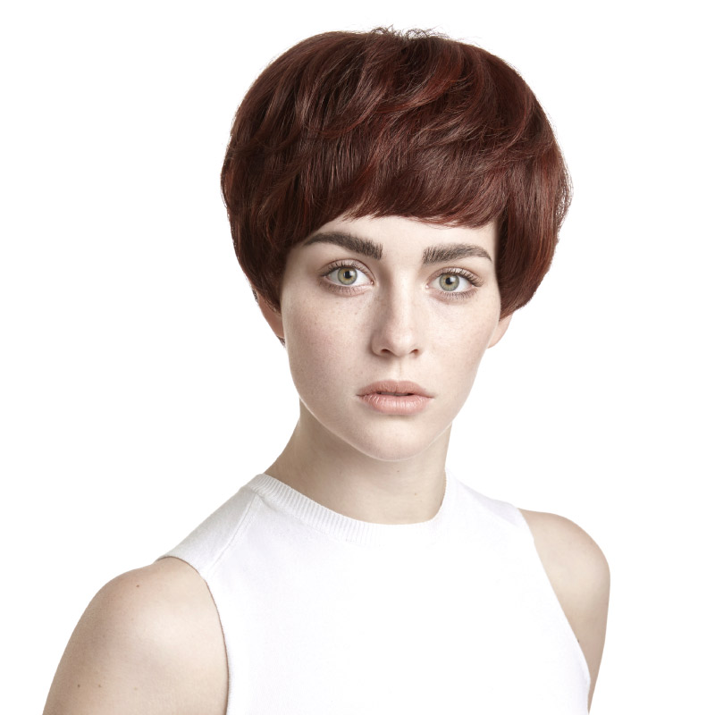 Rebecca wig female short hair wig fashion ladies hand woven short paragraph mom natural fluffy oblique liu qi whole wig