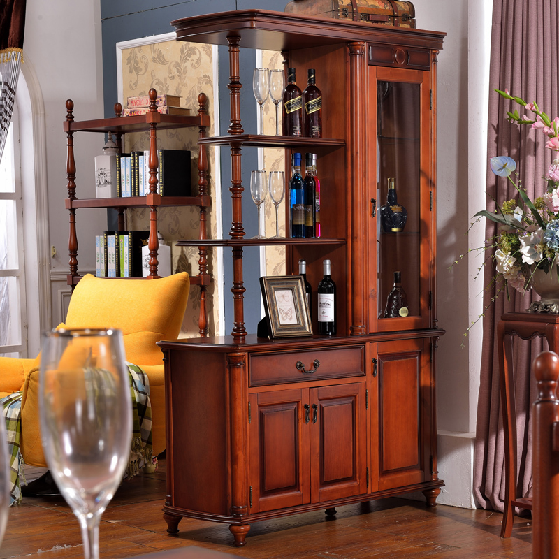 Reca round new american country all solid wood between the cabinet office cabinet wine curio european living room partition cabinet entrance cabinet
