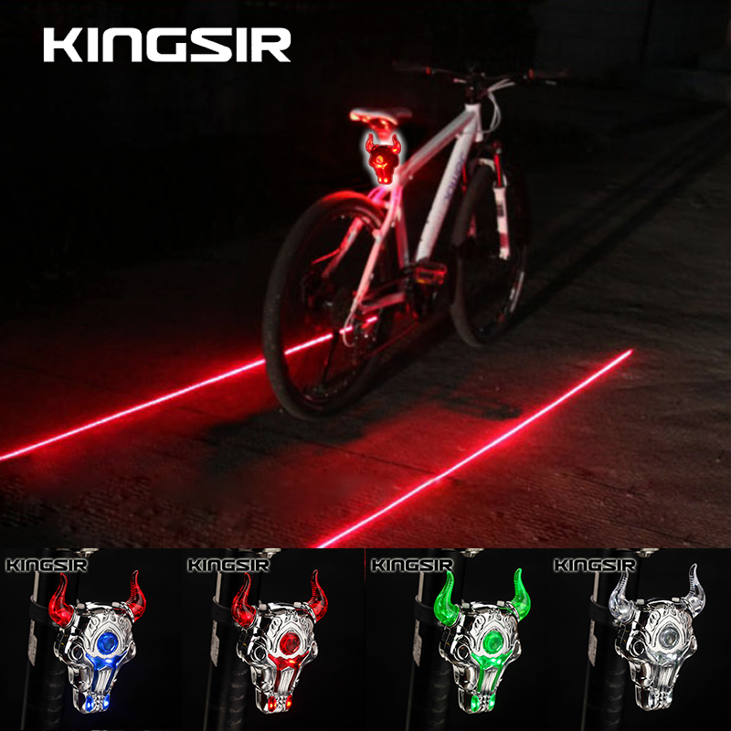 Rechargeable bicycle taillights laser taillights led taillights mountain bike riding safety warning light bicycle accessories and equipment