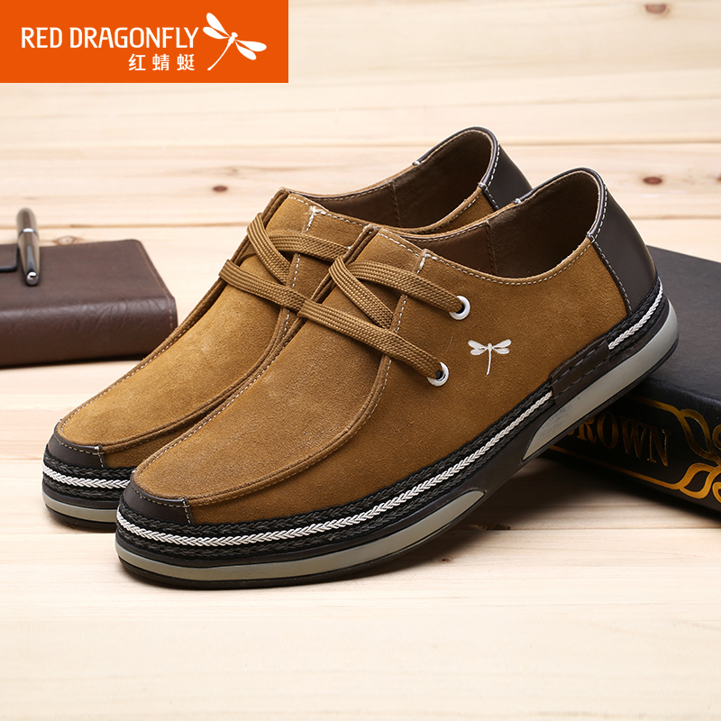 Red dragonfly men's new fall trend of mixed colors and comfortable men's shoes lace men's new casual men's shoes