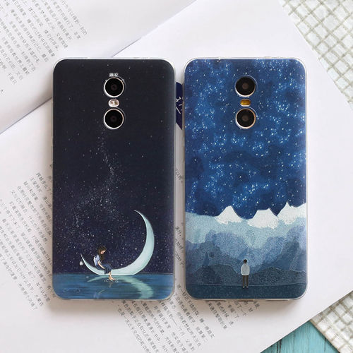 Red rice red rice pro phone shell note4 protective sleeve lovers male and female models literary cute thin silicone soft shell relief