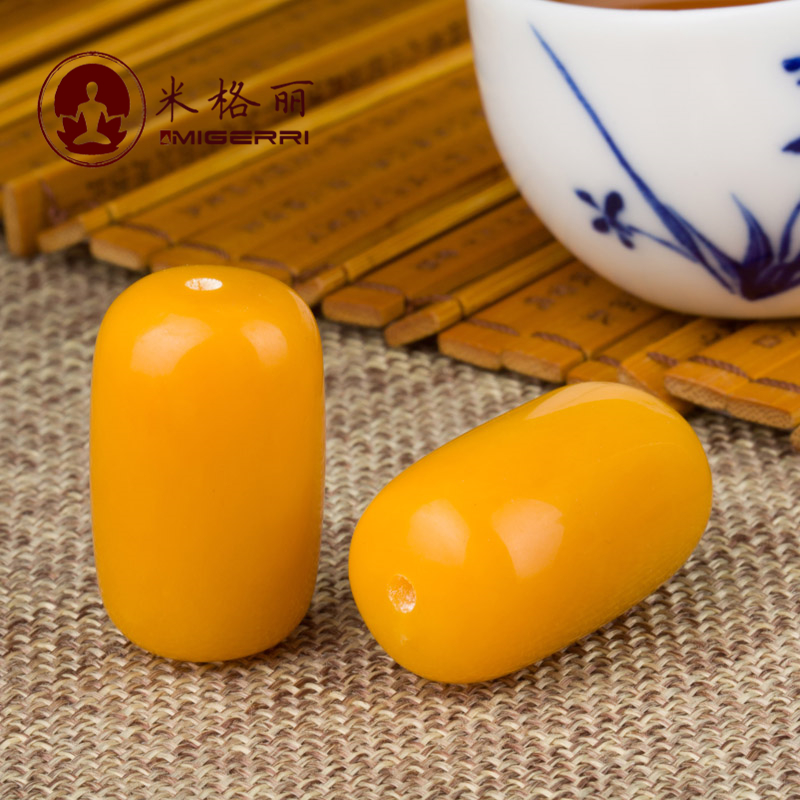 Reengineering liesl mig-yellow chanterelles barrel beeswax beads baltic amber beeswax beads loose beads xingyue accessories