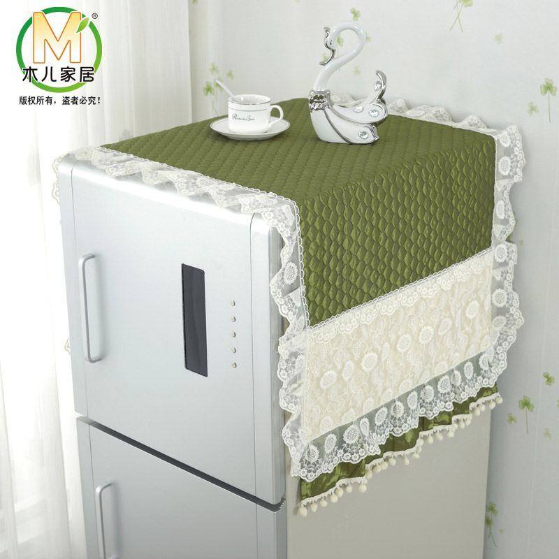 Refrigerator refrigerator dust cover dust cover dust cover on the refrigerator door refrigerator cover towel refrigerator dust cover simple single and double door