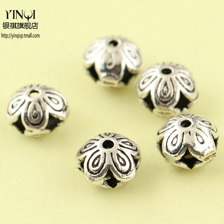 Regards s925 silver thai silver jewelry accessories diy accessories plum ufo spacer beads crystal beads flat bead bracelets bracelets