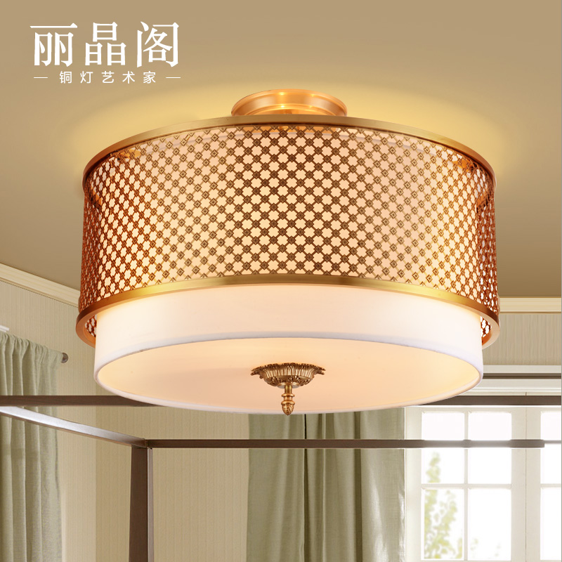 Regent houseã american copper lamps european american study bedroom ceiling lights dining room full copper lamps aisle corridor