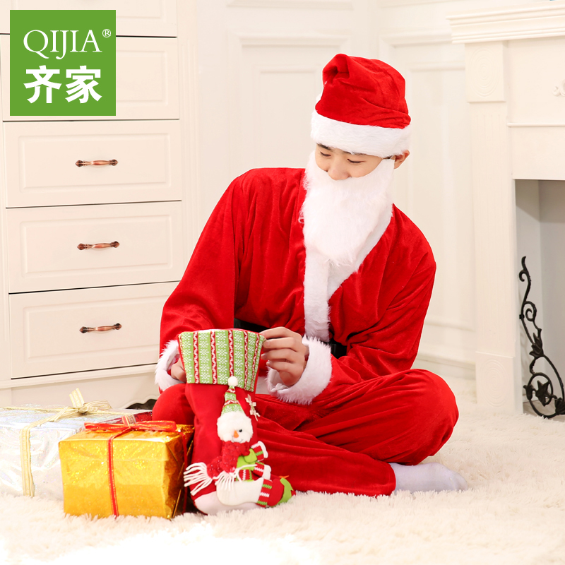 Regulating the family christmas santa claus costume christmas costume santa claus clothes adult costumes suit