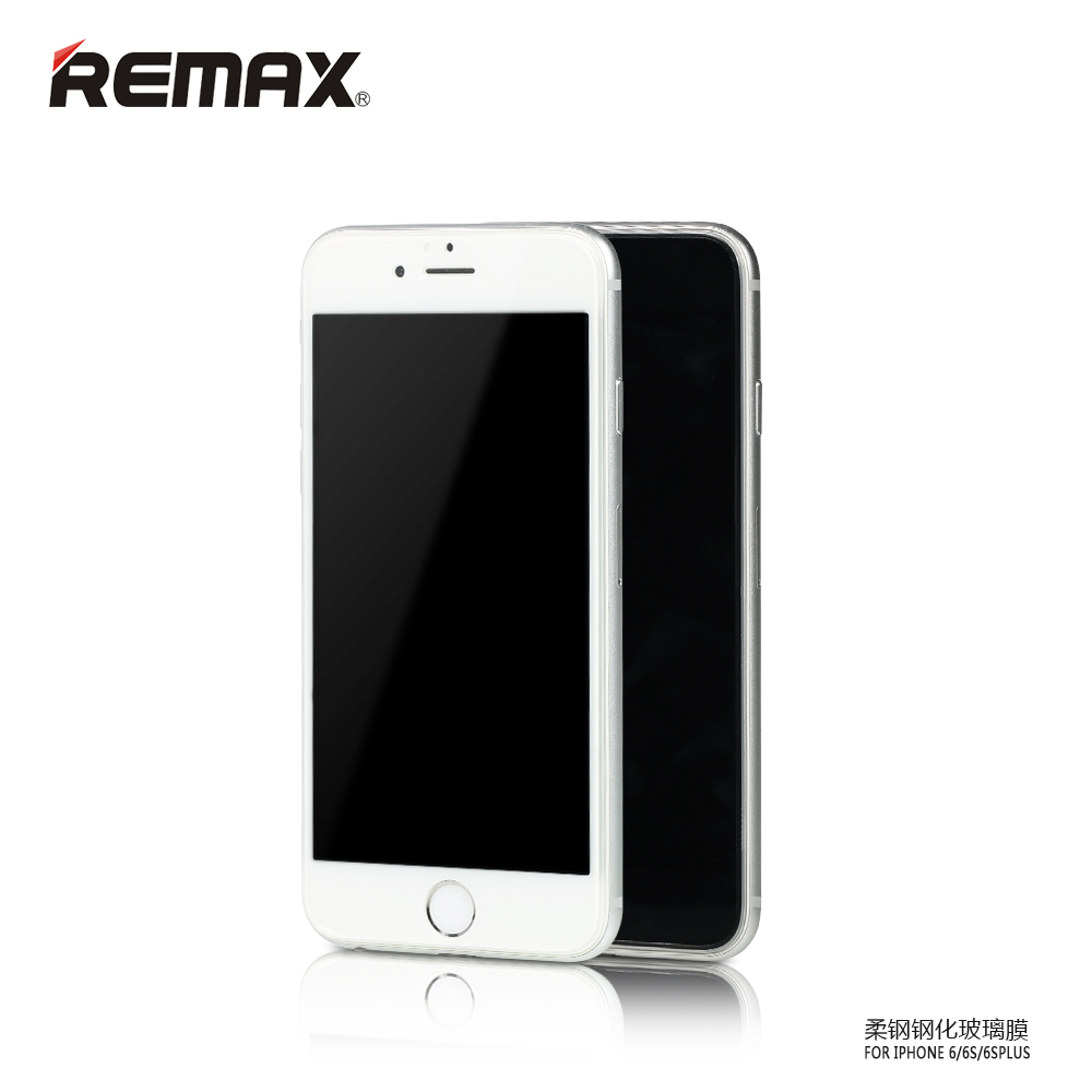 Remax iphone6plus/6SPlus soft steel tempered glass membrane film 5.5 inch 3d surface arc edge glass film screensavers