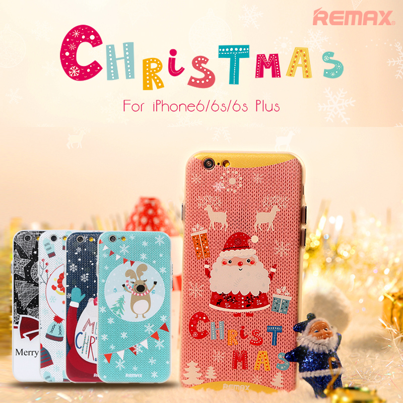 Remax iphone6plus apple phone shell p christmas santa claus soft shell protective sleeve 5. 5 gift