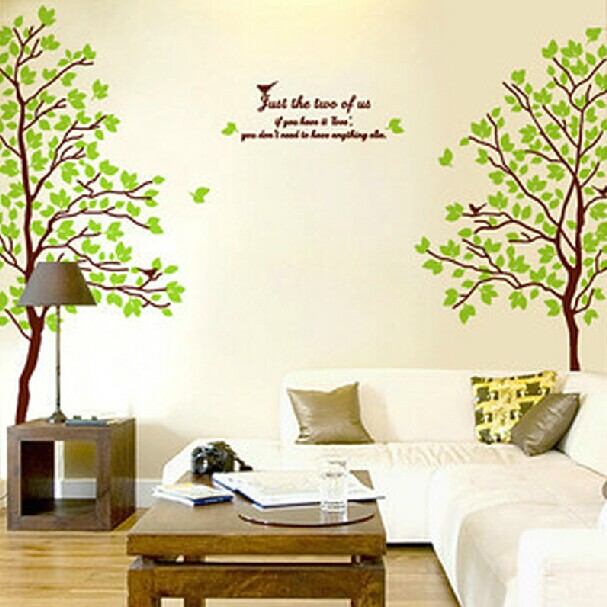 Removable wall stickers/tree lovers/wall sticker wallpaper paste cozy living room bedroom tv backdrop tree decalcomania