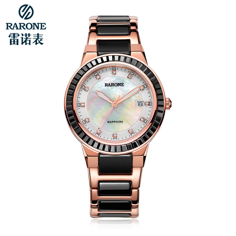 Renolds korean version of the simple quartz female form female fashion watch business waterproof genuine ceramic female form genuine