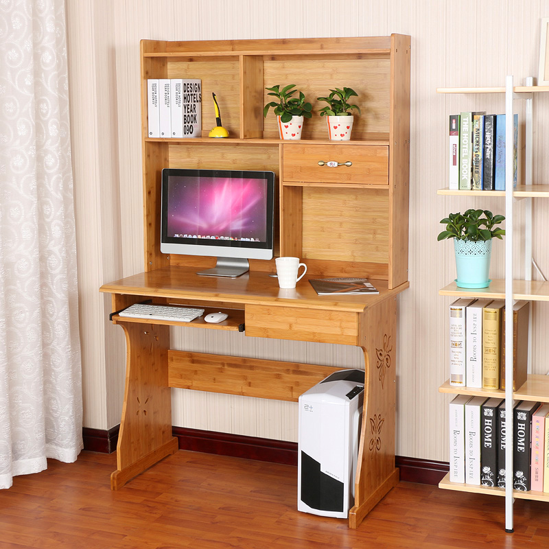 Resistant home desktop computer desk computer desk computer desk home environmentally friendly bamboo wood desk simple desk table book
