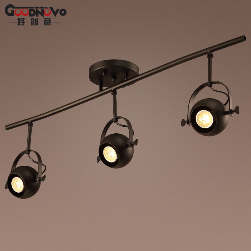 Retro creative led track light clothing exhibition spotlights cob light rail backdrop lights surface mounted spotlights pole