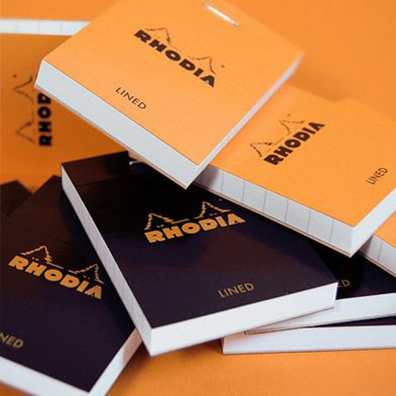 Rhodia rhodia classic checkered dash notebook ┃ turned on