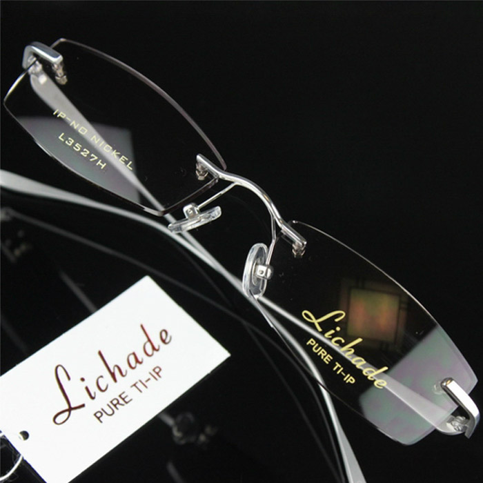 Richard mens business titanium rimless glasses myopia frame glasses frame glasses 3527